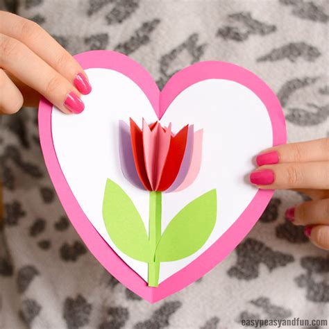s day card arts and crafts template tulip in a card easy peasy and