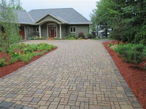 Patio Pavers Nh Permeable Paver Driveway Gilford Nh Traditional
