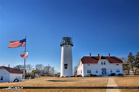 chatham light house chatham lighthouse cape code american flag