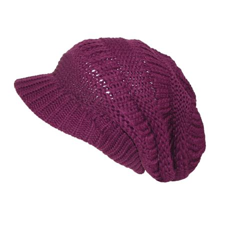 knit beanie womens chunky knit slouchy beanie beret by ctm