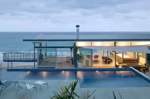 Beach Design Homes by Minimalist Beach House By Pete Bossley Architects Home