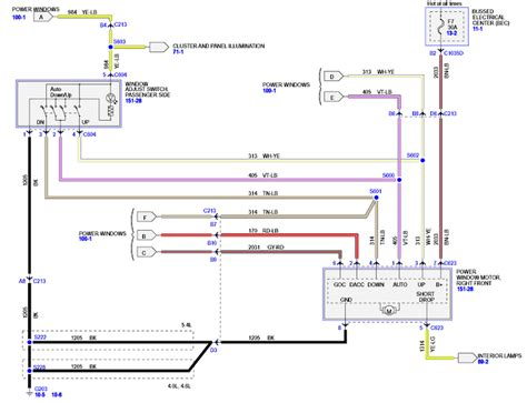 diagram wiring window 2000 ford mustang autos post