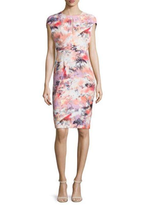 Sleeve Floral Sheath Dress black halo black halo cap sleeve floral print sheath dress