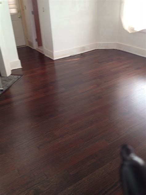 Brazilian Cherry Stained Ebony IPE Floor   After   House
