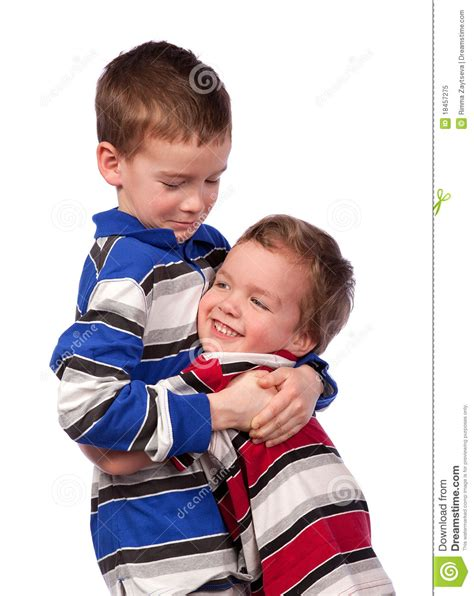 two brothers two brothers hugging stock image image of child