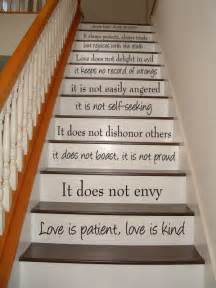 Stairs Quote by Love Is Patient Love Is Kind 1 Corinthians 13 By