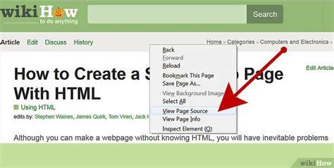 cara membuat tilan web sederhana dengan html cara membuat halaman web sederhana dengan html wikihow