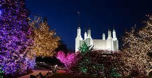 mormon temple dc lights washington d c temple visitors center celebrates festival