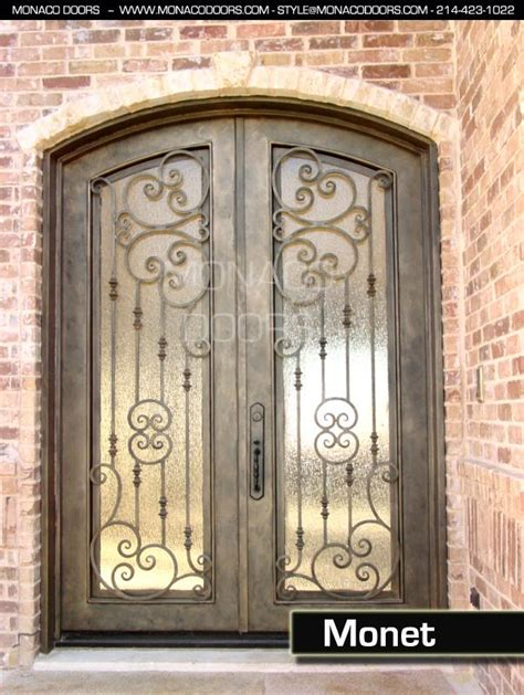 Front Door Wrought Iron Wrought Iron Entry Doors Monaco Doors
