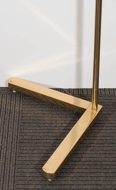 Pharmacy Floor L With Glass Shade by Casella Brass Pharmacy Floor L With Glass Rod Shade At