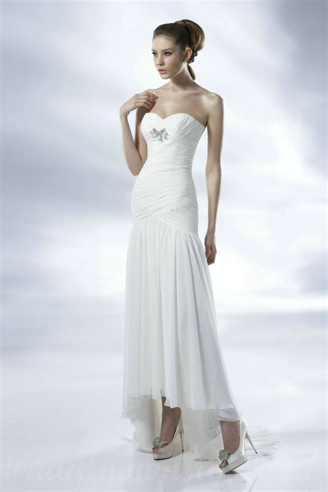 Cheap Bridal Dresses by Casual Wedding Dresses For Summer Tea Length