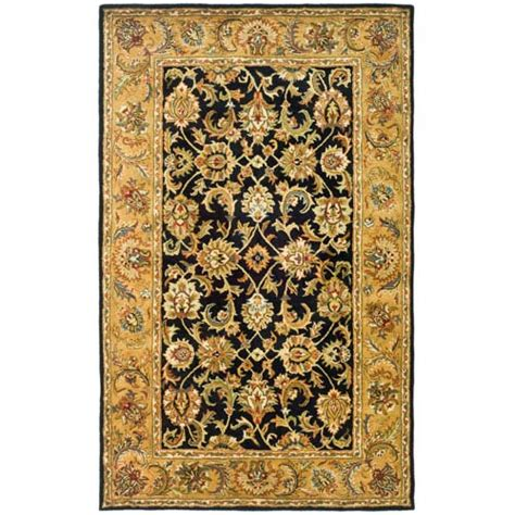 black and gold area rug classic black and gold rectangle 8 ft 3 in x 11 ft in