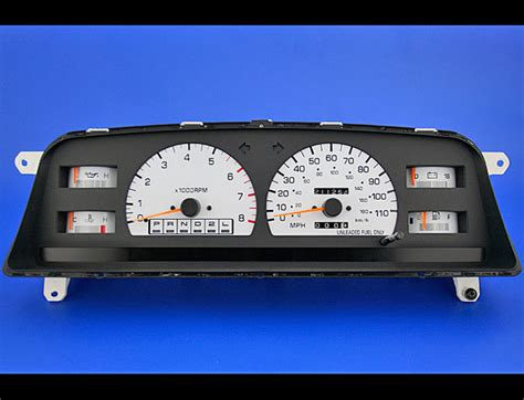 electronic toll collection 1995 dodge viper instrument cluster 1992 1995 toyota 4runner truck white face gauges whitegauges net
