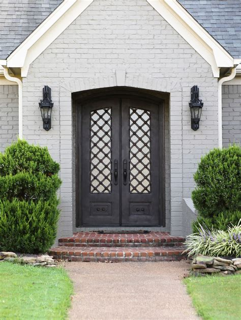 Front Entry | iron entry doors exterior mediterranean with arch arched
