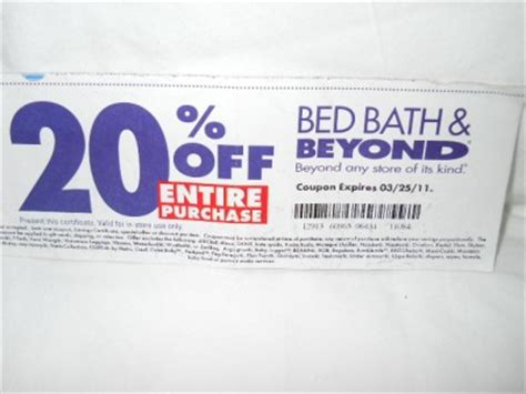 bed bath beyond 20 off entire purchase bed bath beyond coupon 20 off entire purchase exp 12 19 2011 ebay