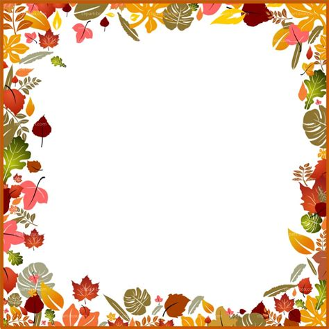 clip borders frame clipart autumn pencil and in color frame clipart