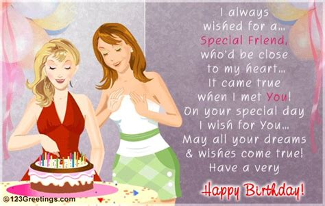 Happy Birthday Wishes To A Special Friend Birth Day Wishes For A Special Friend Inspirational