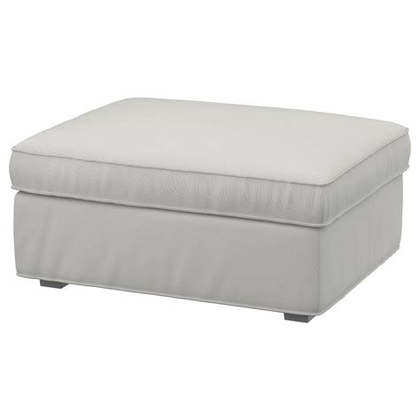kivik ottoman kivik footstool with storage ramna light grey ikea