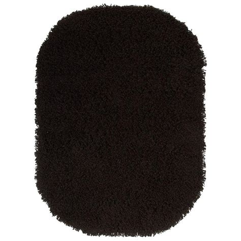 Black Oval Area Rugs by Home Decorators Collection Ultimate Shag Black 5 Ft X 7