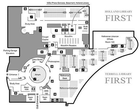 library of congress floor plan holland terrell floor map first floor wsu libraries