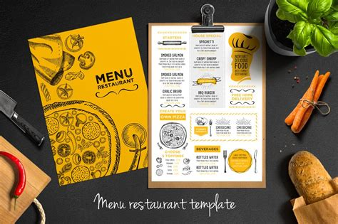 30 Best Food Drink Menu Templates Design Shack Food Menu Design Template