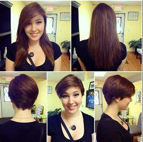 great lengths before and after pixie cut to mid length 220 best makeovers images on pinterest short bobs bobs