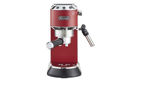 delonghi espresso maschine delonghi espresso maschine ec 685 r dedica rot