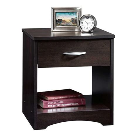 Sauder Beginnings 3 Drawer Dresser Cinnamon Cherry Finish by Sauder Beginnings 1 Drawer Cinnamon Cherry Nightstand