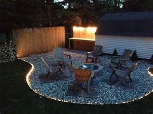 backyard firepit backyard pit project landscaping siding ideas
