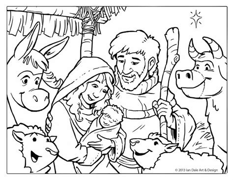 christian christmas coloring pages for adults free christmas coloring page nativity scene by ian dale