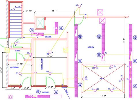 house electrical plan drawing