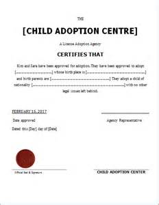child certificate template child adoption certificate template for word document hub