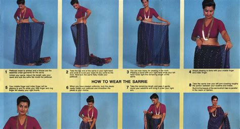 8 Simple Steps To Tie A Sari by Saree Sari India How To Wear A Sari Saree