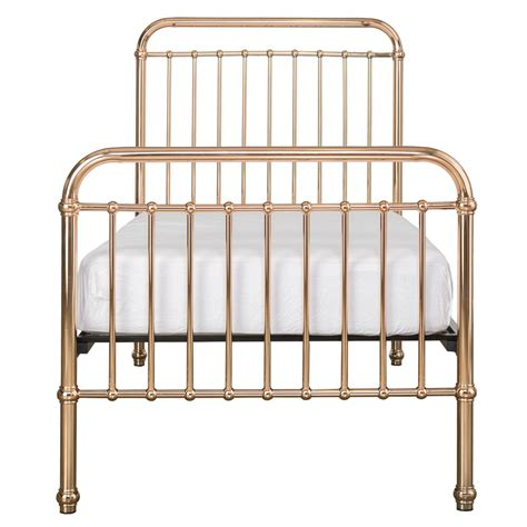gold metal bed penny modern classic rose gold metal bed twin kathy