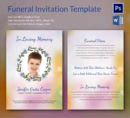 Free Invitation Templates Word by Sle Funeral Invitation Template 11 Documents In Word