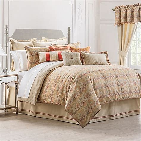 bed bath and beyond waterford waterford 174 linens cathryn reversible comforter set in linen bed bath beyond