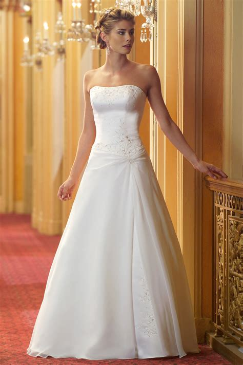 simple a line wedding dress elegant sophisticated and