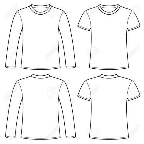 sleeve t shirt template vector free sleeve t shirt clip 59