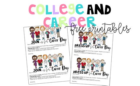 College Letter Sign Up college and career day for elementary students free