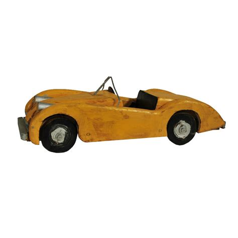Handmade Cars - wooden race car handmade roadster folk collectible