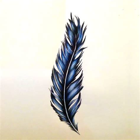 tattoo feather blue blue feather tattoo design