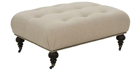 Designer Ottomans Fabric Oversized Ottoman With Tufting Club Furniture