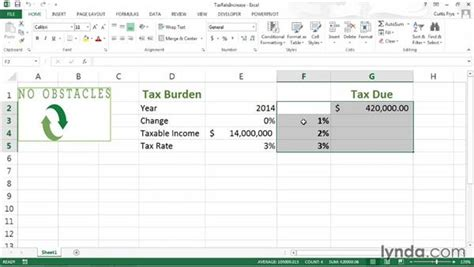 tutorial excel data table defining a one variable data table