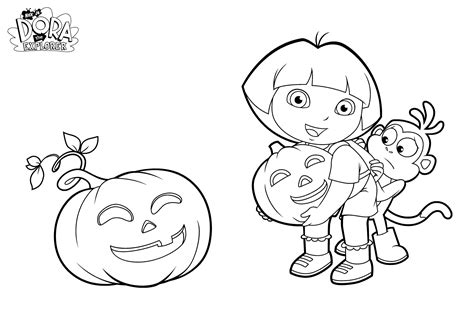 dora halloween coloring page dora coloring pages backpack diego boots swiper print