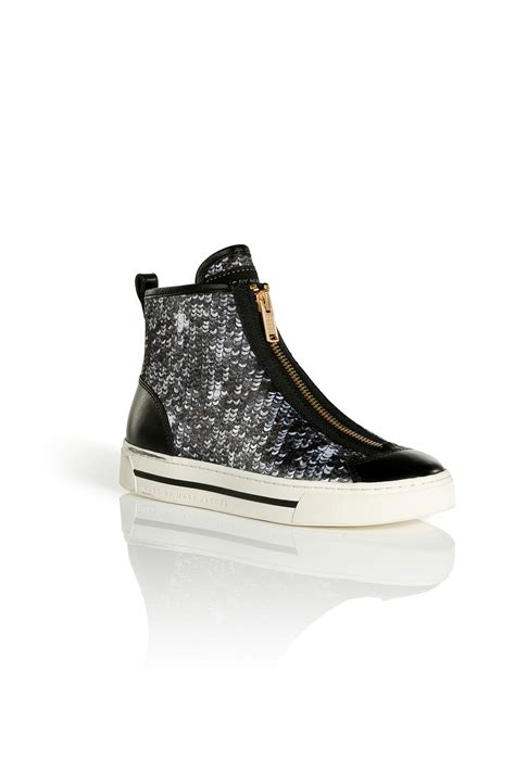 gold sequin high top sneakers marc by marc satin and sequin hightop sneakers in