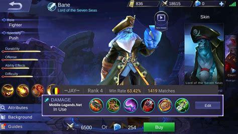 mobile legend damage bane dangerous damage build 2018 mobile legends