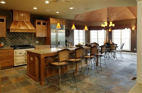 Slate Floor, Cherry Cabinets, and Granite Countertop