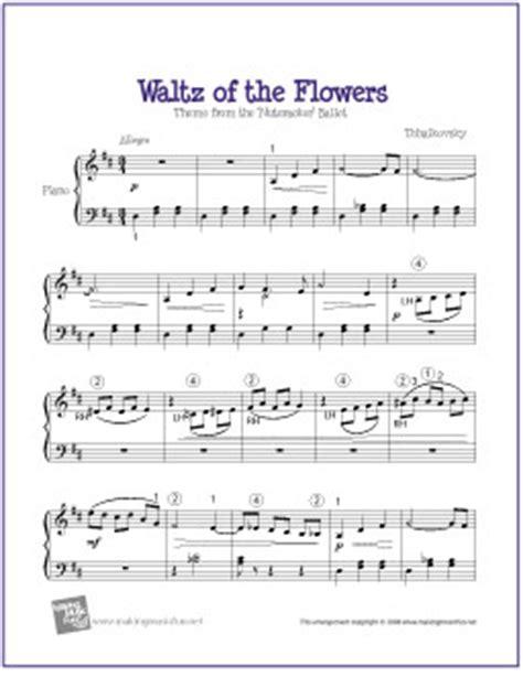 flea waltz flohwalzer easy piano tutorial chords waltz of the flowers nutcracker free easy piano sheet