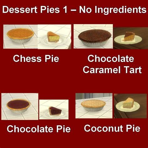 Custom Food custom food dessert pies 1 by leniad at mod the sims