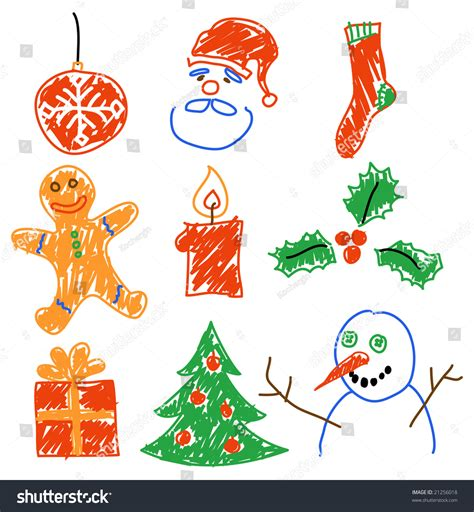 christmas themes to draw hand drawing christmas decorations santa snowman cookie